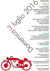Aosta San Bernardo 2016 programma